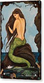 Laguna Beach Mermaid Marina Acrylic Print by Valarie Pacheco