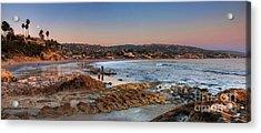 Laguna Beach Panorama Acrylic Print by Eddie Yerkish