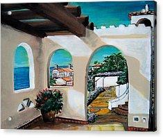 Laguna Beach Sun Patio Acrylic Print by Mitchell McClenney