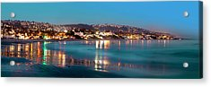 Laguna Beach Twilight Reflections Acrylic Print