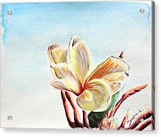 Laguna Flower Acrylic Print by Katharina Filus
