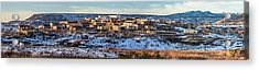 Winter Afternoon Laguna Pueblo - Native American Pueblo Photograph Acrylic Print by Duane Miller