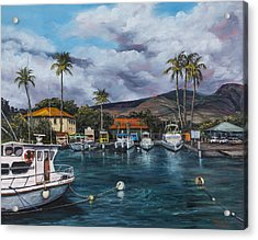 Acrylic Print featuring the painting Lahaina Harbor by Darice Machel McGuire