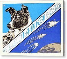 Laika Space Dog Commemorative Packaging Acrylic Print by Detlev Van Ravenswaay