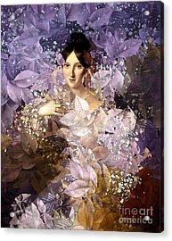 Laila - Des Femmes Et Des Fleurs Acrylic Print