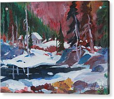 Lake Algonquin Park  Revisited Acrylic Print by Sherrill McCall