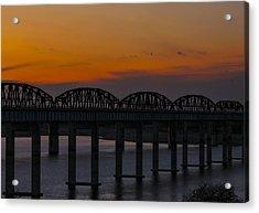 Lake Amistad Sunset Acrylic Print by Amber Kresge