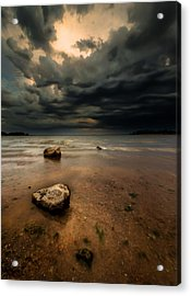 Lake And Clouds Acrylic Print