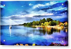 Lake Balaton At Summer Acrylic Print