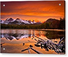 Lake Bierstadt In The Morn Acrylic Print by Steven Reed