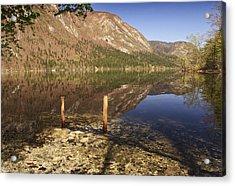 Acrylic Print featuring the photograph Lake Bohinj by Graham Hawcroft pixsellpix