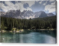 Lake Carezza Acrylic Print