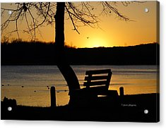 Lake Carlos State Park Sunset Acrylic Print by Steven Clipperton