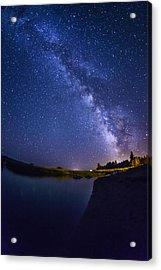 Lake Cascade And Milky Way Acrylic Print