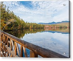 Lake Chocorua And Mount Chocorua From Bridge  Acrylic Print by Karen Stephenson