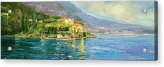 Lake Como Acrylic Print by Allayn Stevens