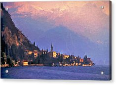 Acrylic Print featuring the painting Lake Como Italy by Douglas MooreZart