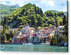 Acrylic Print featuring the photograph Lake Como - Italy by Haleh Mahbod