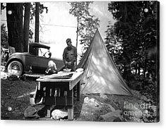 Lake Crescent Camp Site Acrylic Print