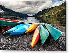 Lake Crescent Kayaks Acrylic Print