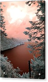 Lake Crescent Light Acrylic Print by Rebecca Parker
