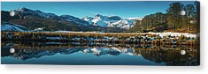 Lake District Snowy Winter Mountain Acrylic Print by Fotovoyager