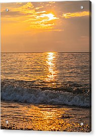 Acrylic Print featuring the photograph Lake Erie Waves by David Coblitz