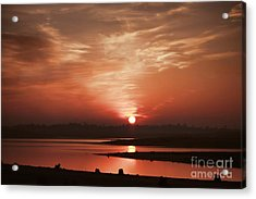 Acrylic Print featuring the photograph Lake Folsom California Sunset by Polly Peacock