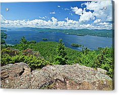 Lake George Shelving Rock Acrylic Print