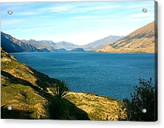 Acrylic Print featuring the photograph Lake Hawea by Stuart Litoff