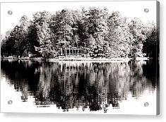Lake House Acrylic Print by John Rizzuto