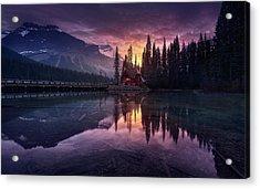 Lake House Sunrise Acrylic Print