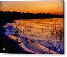 Lake Huron Sunset  Acrylic Print by Michelle Calkins
