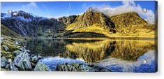 Lake Idwal Panorama Acrylic Print by Ian Mitchell
