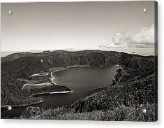 Lake In A Crater Acrylic Print