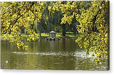 Acrylic Print featuring the photograph Lake In Boston Park by Alex King