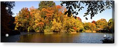 Acrylic Print featuring the photograph Lake In Central Park In Fall by Yue Wang