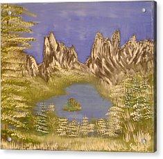 Lake In Glacier Acrylic Print