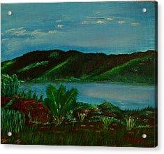 Lake In The Mountains Photo Acrylic Print