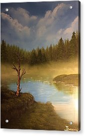Lake In The Woods  Acrylic Print