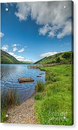 Lake In Wales Acrylic Print by Adrian Evans