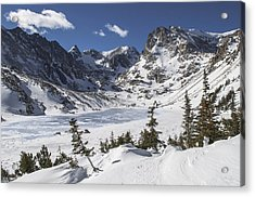 Lake Isabelle Acrylic Print by Aaron Spong