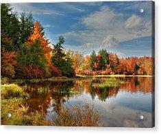 Lake Jean Reflections Acrylic Print by Lori Deiter