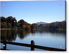 Lake Junaluska In The Mountains Acrylic Print by Paula Tohline Calhoun