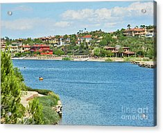 Acrylic Print featuring the photograph Lake Las Vegas In May by Emmy Marie Vickers