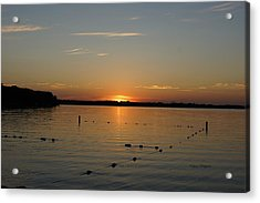 Lake Le Homme Dieu Sunset Acrylic Print by Steven Clipperton