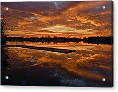 Lake Lenape Sunrise1 Acrylic Print