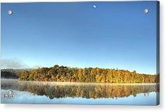 Lake Logan Fall Panorama Acrylic Print