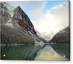 Lake Louise After The Dusting Of Snow Acrylic Print