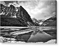 Lake Louise - Black And White #3 Acrylic Print